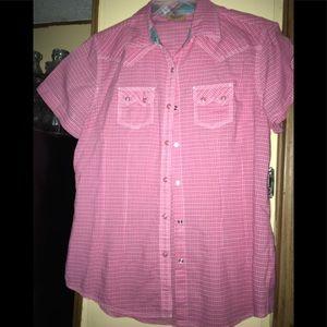 Ladies western style Shirt sz M